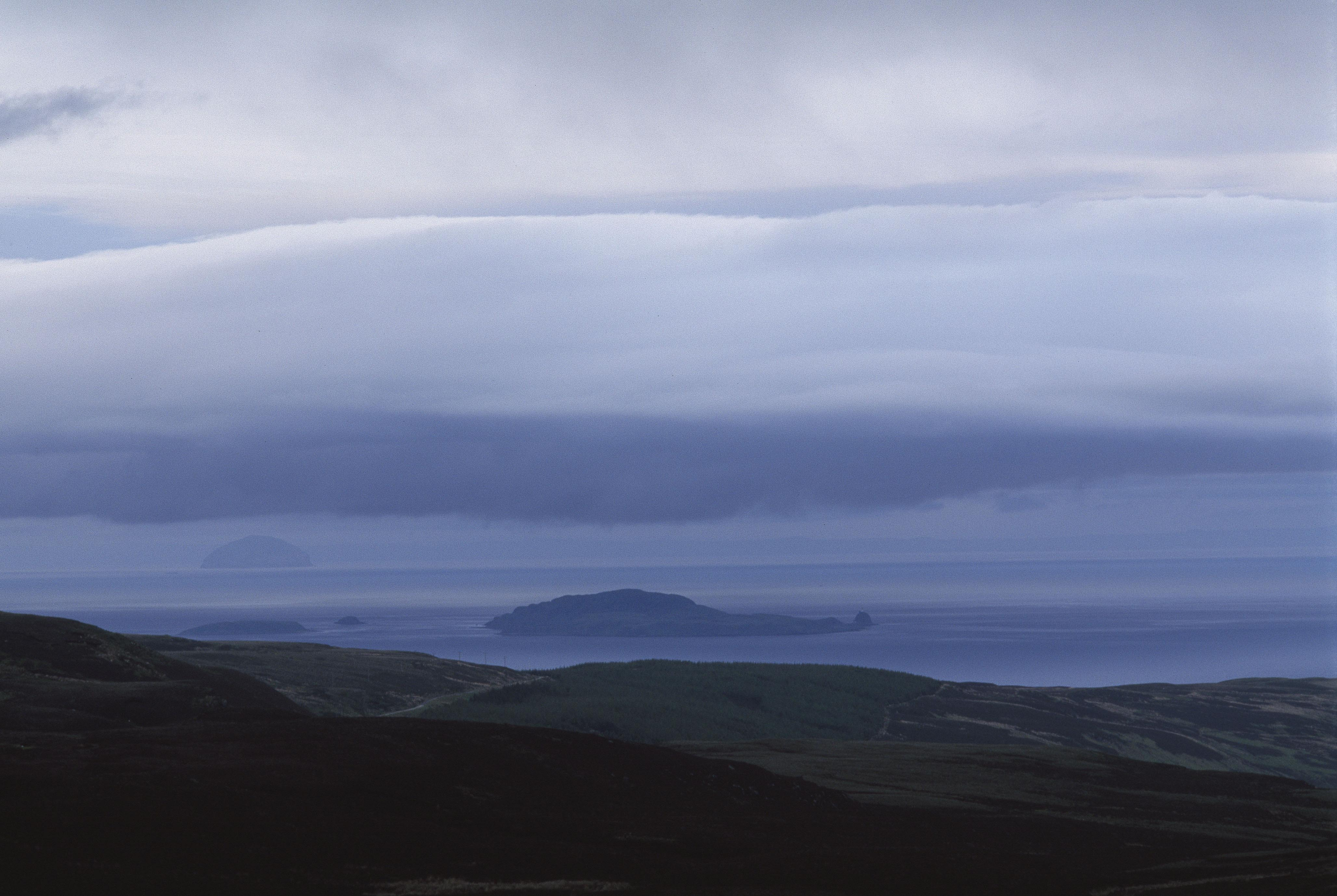 Looking east over the Firth Of Clyde, Mull of Kintyre, Scotland, 1995